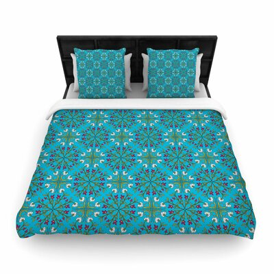 Mayacoa Studio Morrocan Tile Geometric Floral Woven Duvet Cover Size: Twin
