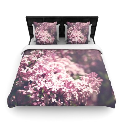 Jillian Audrey Floral Woven Duvet Cover Size: Full/Queen
