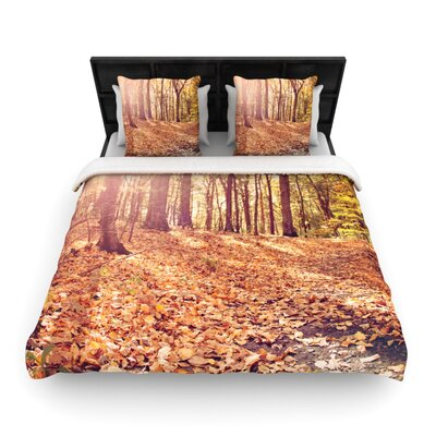 Jillian Audrey Autumn Hike Woven Duvet Cover Size: Full/Queen