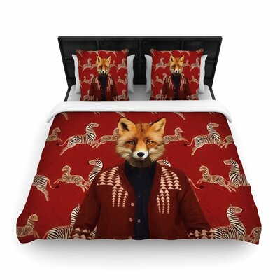 Natt Family Portrait N1 Fox Woven Duvet Cover Size: Twin