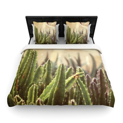 Jillian Audrey Grass Cactus Woven Duvet Cover Size: Full/Queen