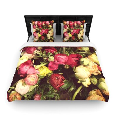 Jillian Audrey Ranunculus Woven Duvet Cover Size: Full/Queen