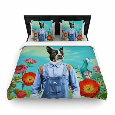 Natt Family Portrait N3 Dog Woven Duvet Cover Size: King