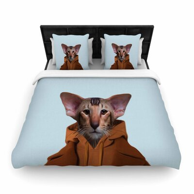 Natt Monsieur Roland - Digital Pop Art Woven Duvet Cover Size: King