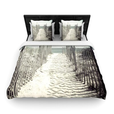 Jillian Audrey Welcome to the Beach Woven Duvet Cover Size: King