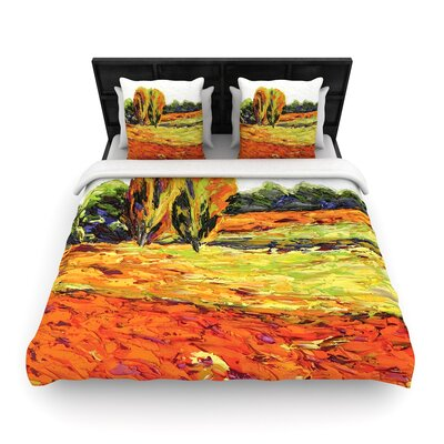 Jeff Ferst Summer Breeze Foliage Woven Duvet Cover Size: Full/Queen