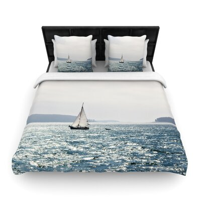 Jillian Audrey Sail the Sparking Seas Woven Duvet Cover Size: King
