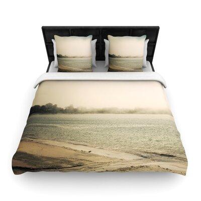Jillian Audrey Stormy Coast Coastal Woven Duvet Cover Size: Twin