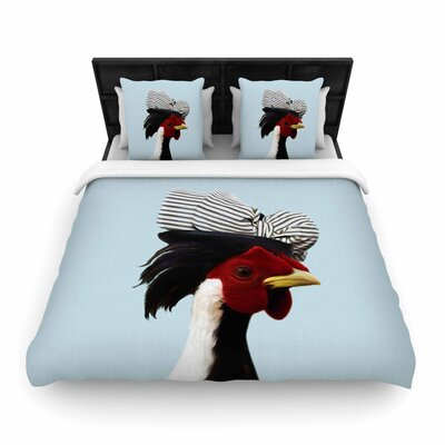Natt Madame Cocco - Illustration Pop Art Woven Duvet Cover Size: King