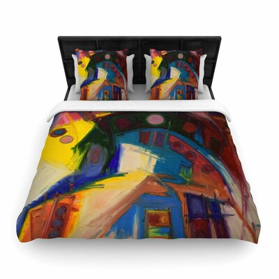 Jeff Ferst New York Chic Woven Duvet Cover Size: King
