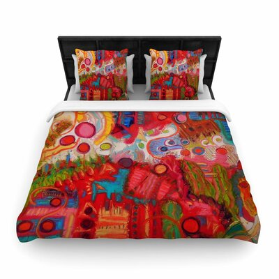 Jeff Ferst Desert under a Full Moon Woven Duvet Cover Size: Twin