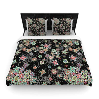 Julia Grifol My Small Flowers Floral Woven Duvet Cover Size: King