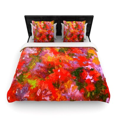 Jeff Ferst Summer Garden Floral Painting Woven Duvet Cover Size: Twin