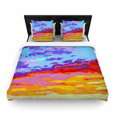 Jeff Ferst Dancing Clouds Woven Duvet Cover Size: King