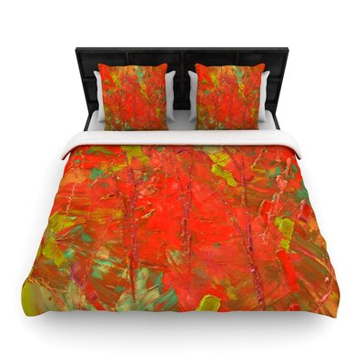 Jeff Ferst Crimson Forest Woven Duvet Cover Size: Full/Queen