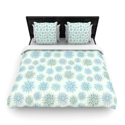 Julia Grifol My Delicate Flowers Woven Duvet Cover Size: Twin