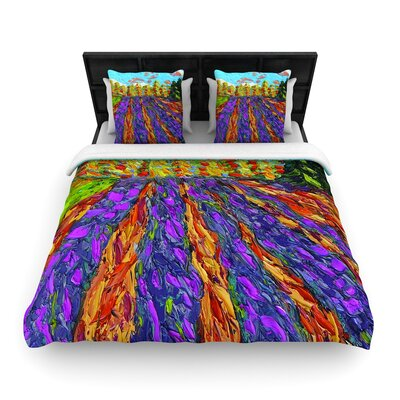 Jeff Ferst Flowers in the Field Woven Duvet Cover Size: Twin