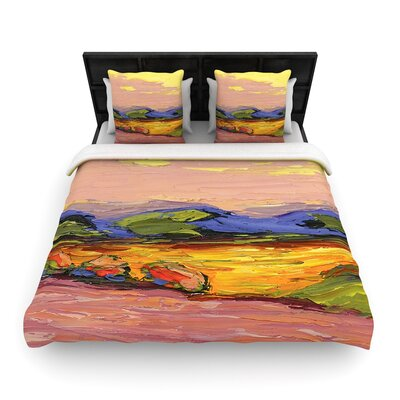 Jeff Ferst Pastoral View Painting Woven Duvet Cover Size: King