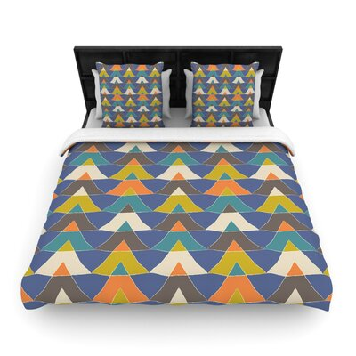 Julia Grifol Triangles Woven Duvet Cover Size: Full/Queen