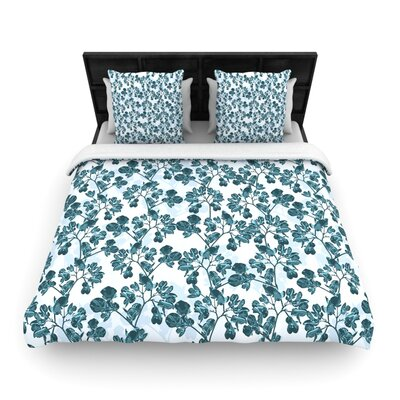 Julia Grifol Flowers Woven Duvet Cover Size: Twin