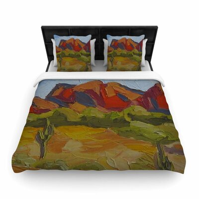 Jeff Ferst Arizona Desert Mountain Woven Duvet Cover Size: Full/Queen