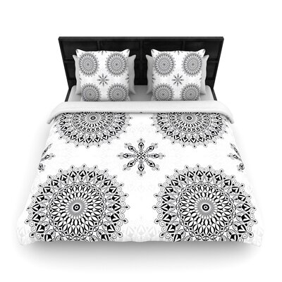 Julia Grifol Mandala Woven Duvet Cover Size: Full/Queen