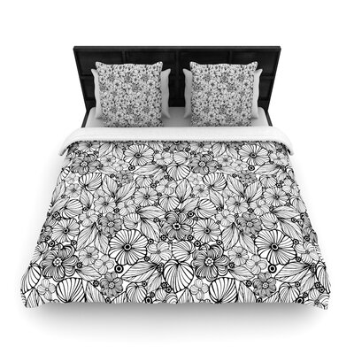 Julia Grifol Candy Flowers Woven Duvet Cover Size: Full/Queen