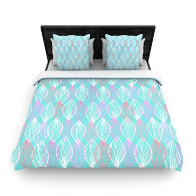 Julia Grifol My Leaves Woven Duvet Cover Size: Full/Queen