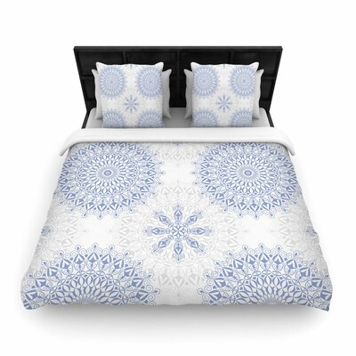 Julia Grifol Mandalas Vector Geometric Woven Duvet Cover Size: King