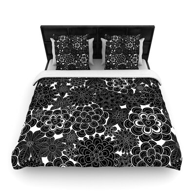 Julia Grifol Flowers Woven Duvet Cover Size: Full/Queen