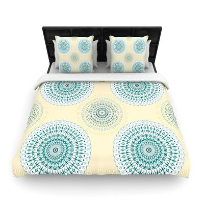 Julia Grifol Soft Mandalas Woven Duvet Cover Size: Full/Queen