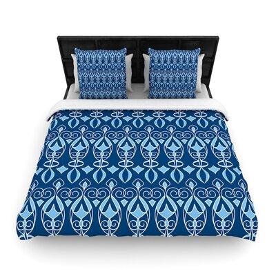 Julia Grifol Deco Pattern Woven Duvet Cover Size: King