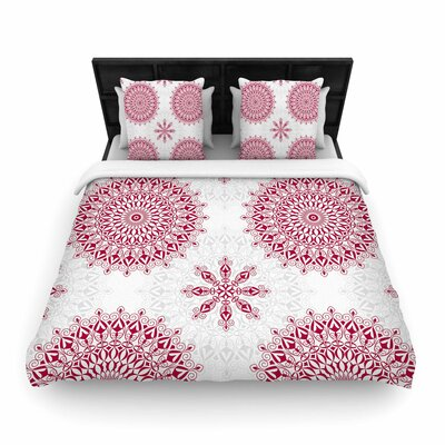 Julia Grifol Geometric Mandalas Woven Duvet Cover Size: Full/Queen