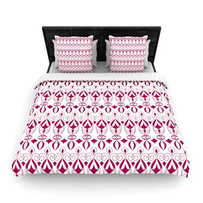 Julia Grifol Warm Deco Woven Duvet Cover Size: King