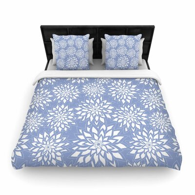Julia Grifol Garden Woven Duvet Cover Color: Blue, Size: Twin