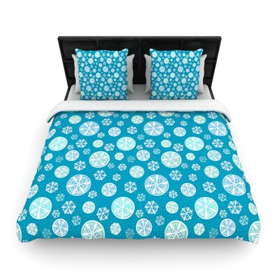 Julie Hamilton Snowflake Sky Woven Duvet Cover Size: Full/Queen