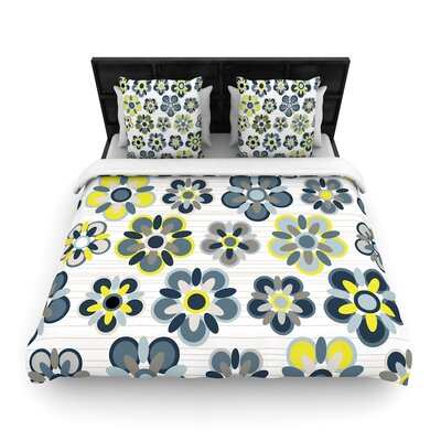 Jolene Heckman Folksy Woven Duvet Cover Size: Full/Queen, Color: Blue/Gray
