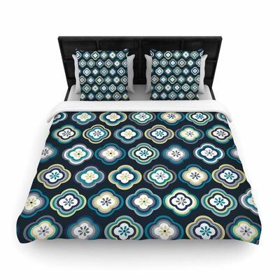 Jolene Heckman Graphic Floral Woven Duvet Cover Size: Full/Queen
