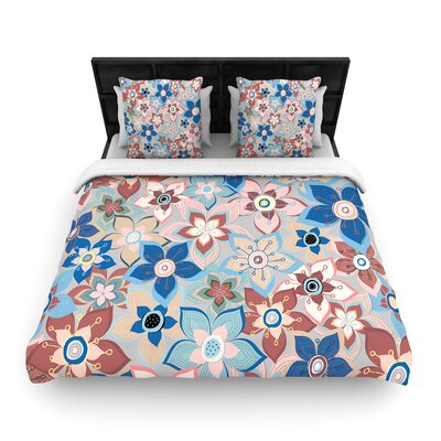 Jolene Heckman Marsala Floral Mix Woven Duvet Cover Size: Twin