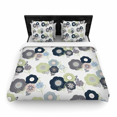 Jolene Heckman Floral Bunches Woven Duvet Cover Size: Twin