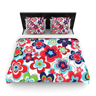Jolene Heckman a Cheerful Morning Woven Duvet Cover Size: King