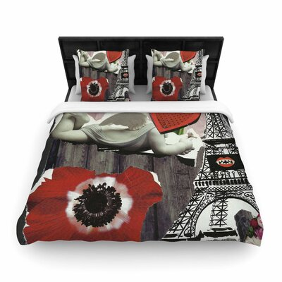 Jina Ninjjaga Parish Pop Art Woven Duvet Cover Size: Full/Queen