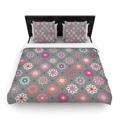 Jolene Heckman Mini Floral Woven Duvet Cover Size: King