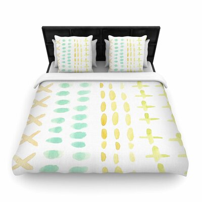 Jennifer Rizzo Dots and Dashes Woven Duvet Cover Size: King