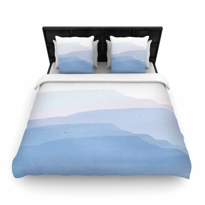 Jennifer Rizzo Layered Mountains Abstract Woven Duvet Cover Size: Twin