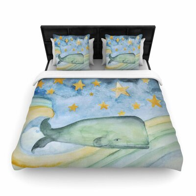 Jennifer Rizzo Swimming with the Stars Illustration Animals Woven Duvet Cover Size: Full/Queen