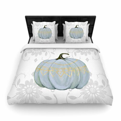 Jennifer Rizzo Boho Pumpkin Illustration Woven Duvet Cover