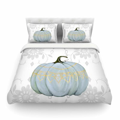 Jennifer Rizzo Boho Pumpkin Illustration Featherweight Duvet Cover Size: Twin