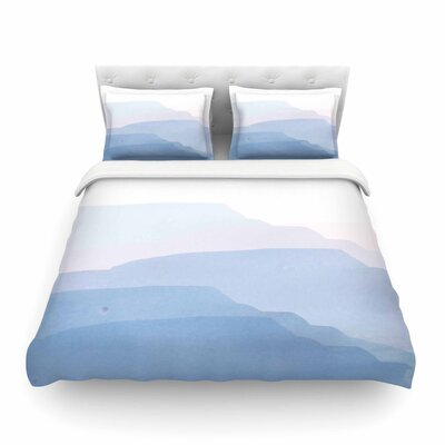 Jennifer Rizzo Layered Mountains Abstract Featherweight Duvet Cover Size: Twin