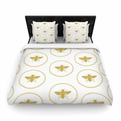 Jennifer Rizzo Busy As a Bee and Maize Nature Woven Duvet Cover Size: Full/Queen